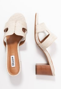 Dune London - JOUPE - Heeled mules - natural - 3