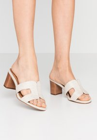 Dune London - JOUPE - Heeled mules - natural - 0