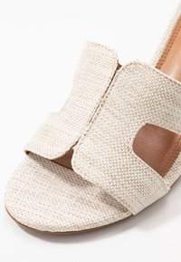 Dune London - JOUPE - Heeled mules - natural - 2