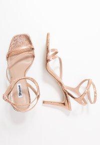 Dune London - MIGHTEYS - High heeled sandals - rose gold - 3