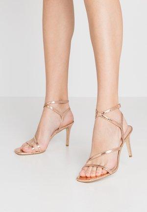 MIGHTEYS - Sandály na vysokém podpatku - rose gold