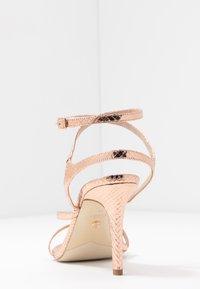 Dune London - MIGHTEYS - High heeled sandals - rose gold - 5