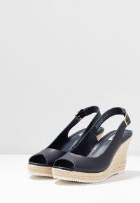 Dune London - KNOX - High heeled sandals - navy - 4