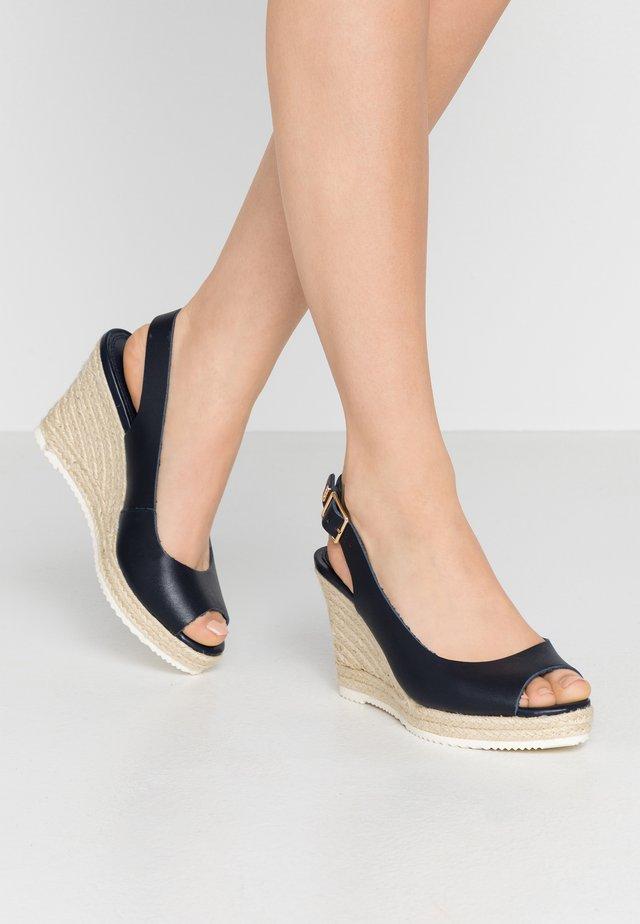 KNOX - Sandály na vysokém podpatku - navy