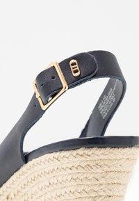 Dune London - KNOX - High heeled sandals - navy - 2