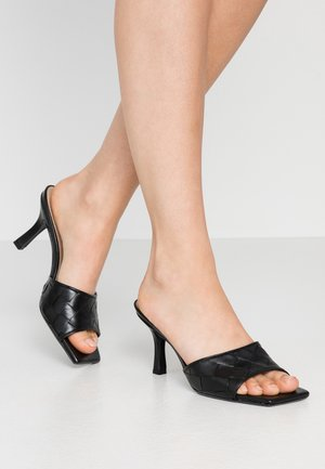 MONTREAL - Heeled mules - black