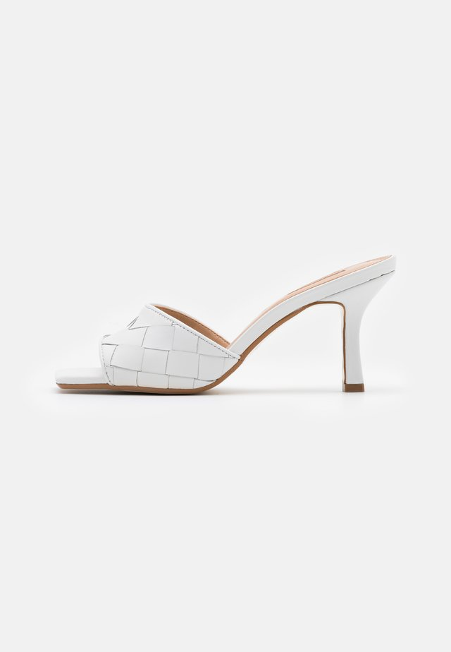 MONTREAL - Heeled mules - white