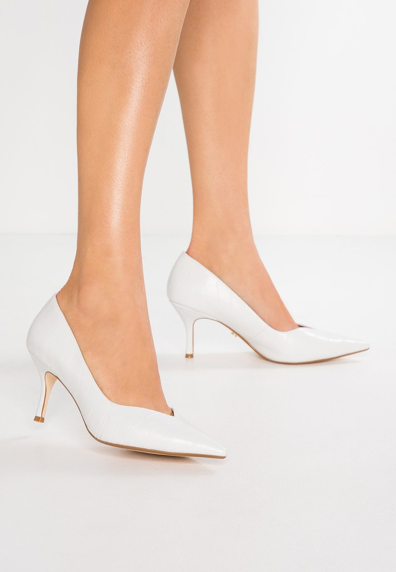 Dune London - WIDE FIT ANDERSONN - Classic heels - white
