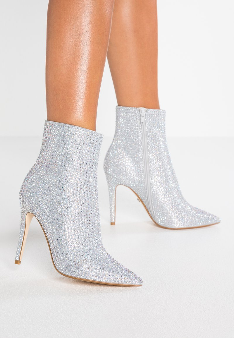 Dune London - ORRNATE - High heeled ankle boots - pewter metallic