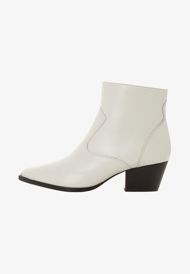 Dune London - PRAIRRIE  - Cowboy/biker ankle boot - white