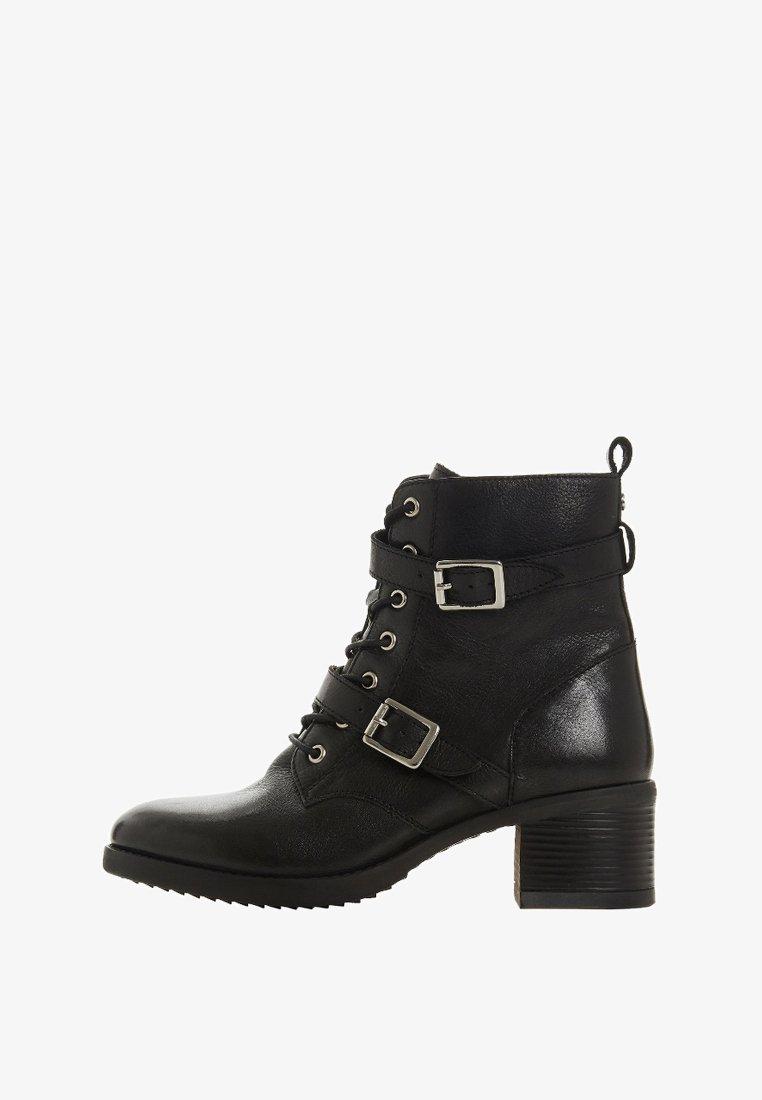 Dune London - Cowboy/biker ankle boot - black