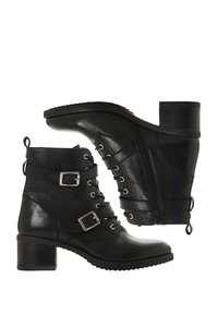 Dune London - Cowboy/biker ankle boot - black - 4