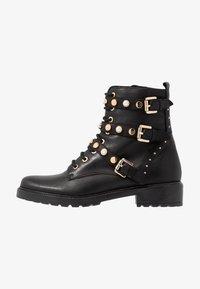 Dune London - REEGANS - Cowboy/biker ankle boot - black - 1