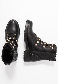 Dune London - REEGANS - Cowboy/biker ankle boot - black - 3