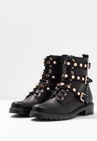 Dune London - REEGANS - Cowboy/biker ankle boot - black - 4