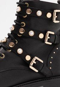 Dune London - REEGANS - Cowboy/biker ankle boot - black - 2