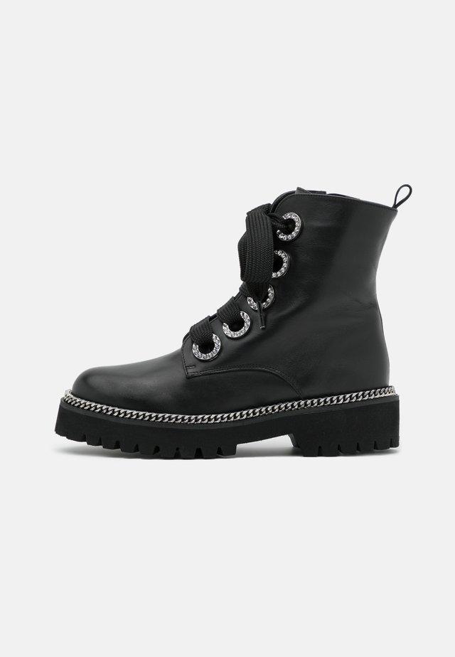 PAVVILLION - Platform ankle boots - black