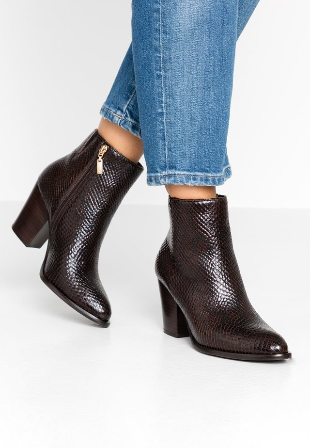 PORTRAY - High heeled ankle boots - dark brown