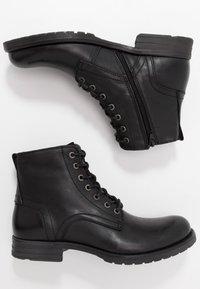 Dune London - CARDIF - Šněrovací kotníkové boty - black - 1