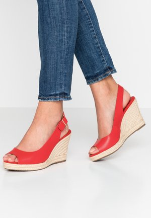 WIDE FIT KICKS - High heeled sandals - red