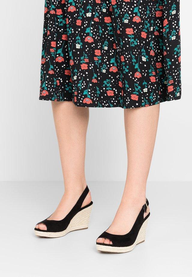 WIDE FIT KICKS - High heeled sandals - black