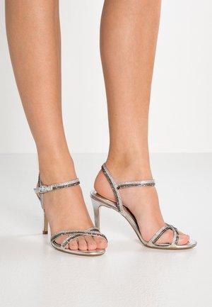 WIDE FIT MAGDALENA - Sandály na vysokém podpatku - silver