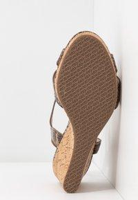 Dune London WIDE FIT - WIDE FIT KOALA - Sandály na vysokém podpatku - beige - 6