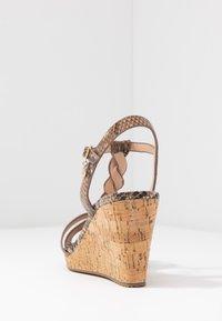 Dune London WIDE FIT - WIDE FIT KOALA - Sandály na vysokém podpatku - beige - 5