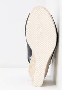 Dune London WIDE FIT - WIDE FIT KNOX  - Sandály na vysokém podpatku - navy - 6