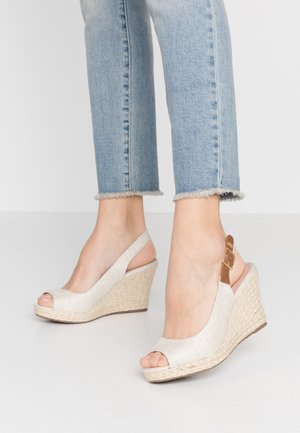WIDE FIT KICKS - High heeled sandals - natural
