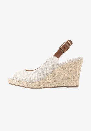 WIDE FIT KICKS - High heeled sandals - natural