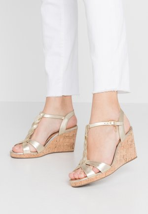 WIDE FIT KOALA - High heeled sandals - gold