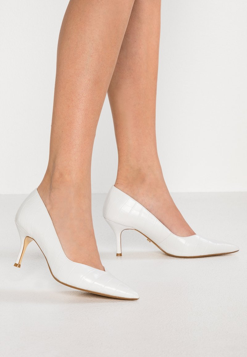 Dune London WIDE FIT - WIDE FIT ANDERSONN - Tacones - white