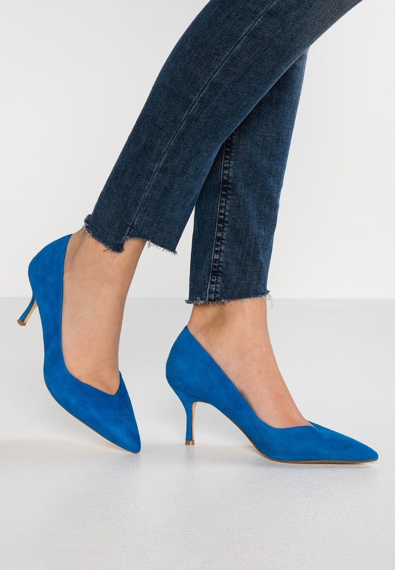 Dune London WIDE FIT - WIDE FIT ANDERSONN - Pumps - blue