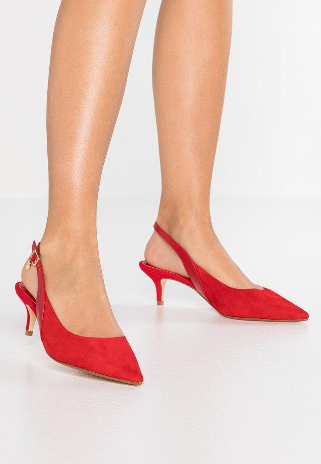 WIDE FIT CINDA - Classic heels - red