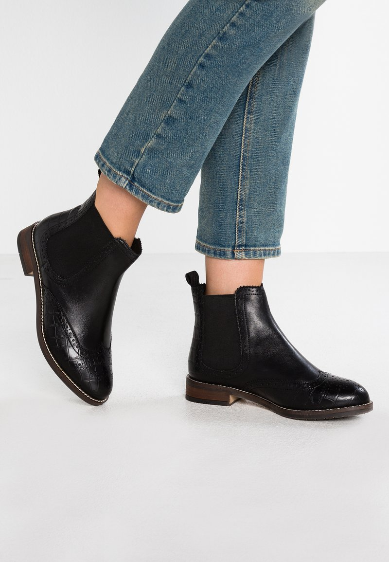 Dune London WIDE FIT - WIDE FIT QUENTONS - Ankle boots - black