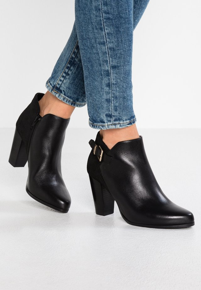 WIDE FIT OLERIA - High heeled ankle boots - black