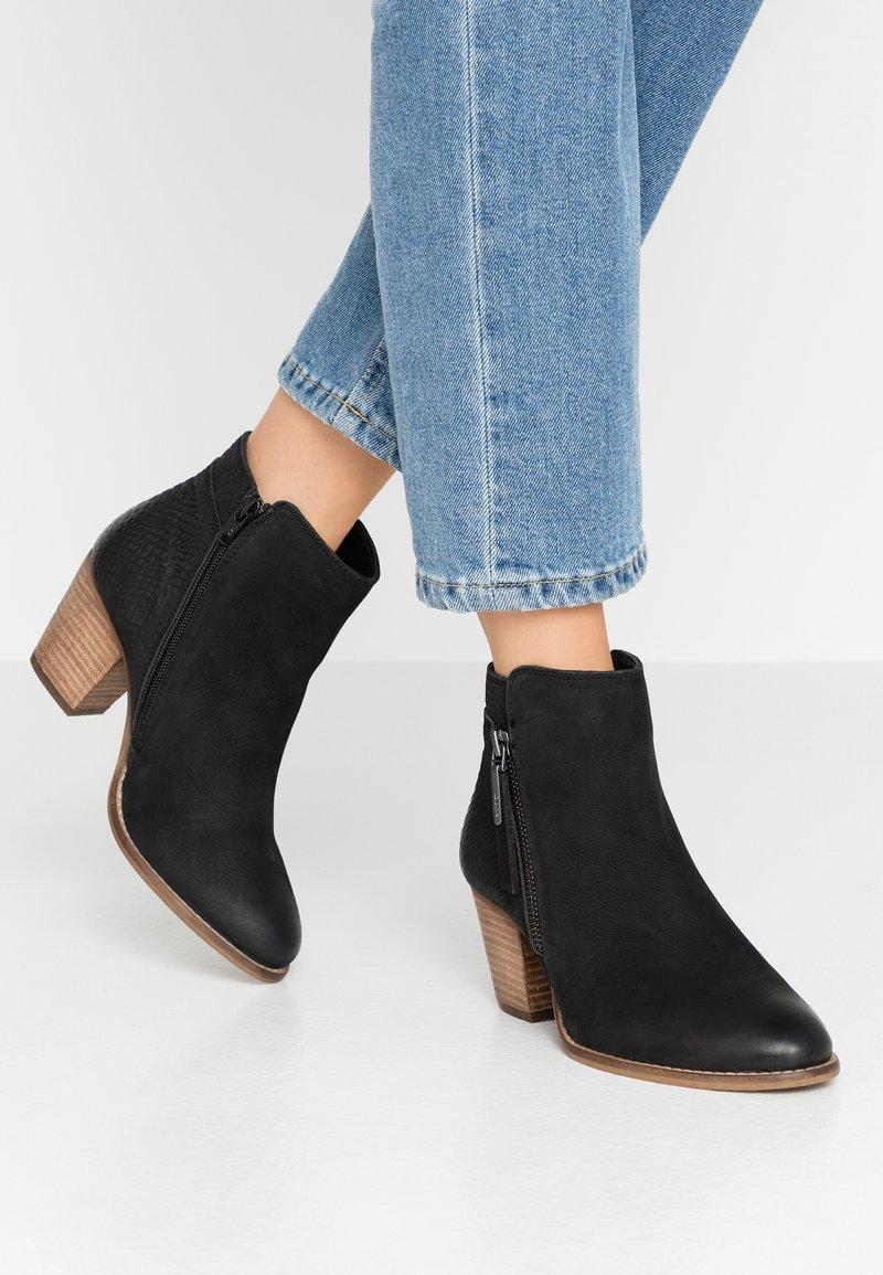 Dune London WIDE FIT - WIDE FIT PONNTOON - Ankle boots - black