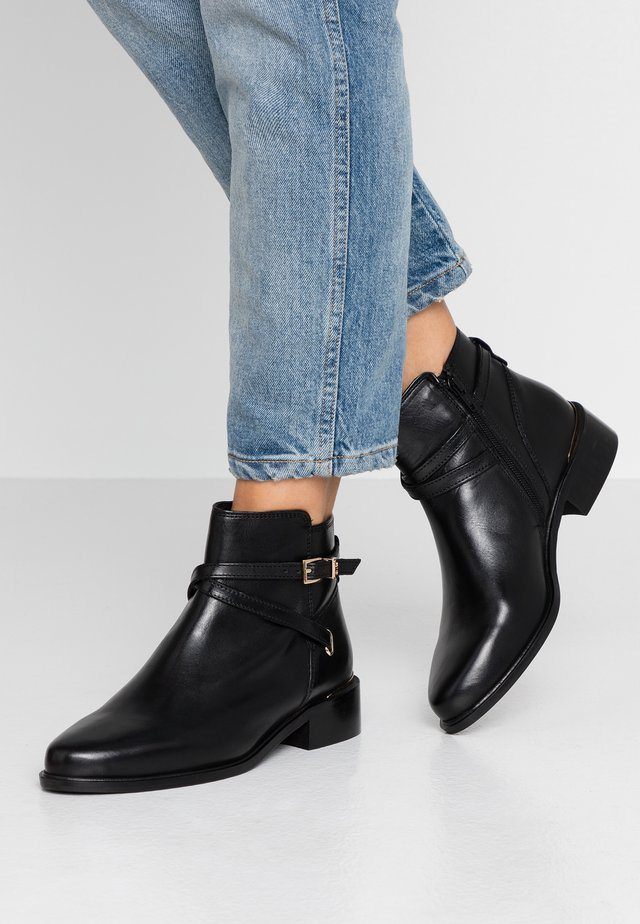 WIDE FIT PEPER - Ankle boot - black