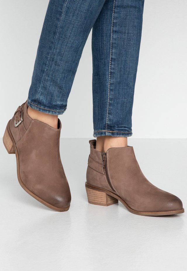 WIDE FIT PIERA - Ankle boot - taupe