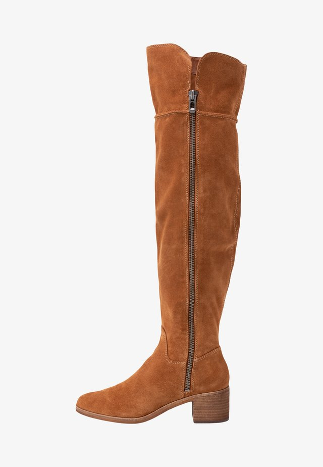 DORIEN  - Overknee laarzen - prairie brown
