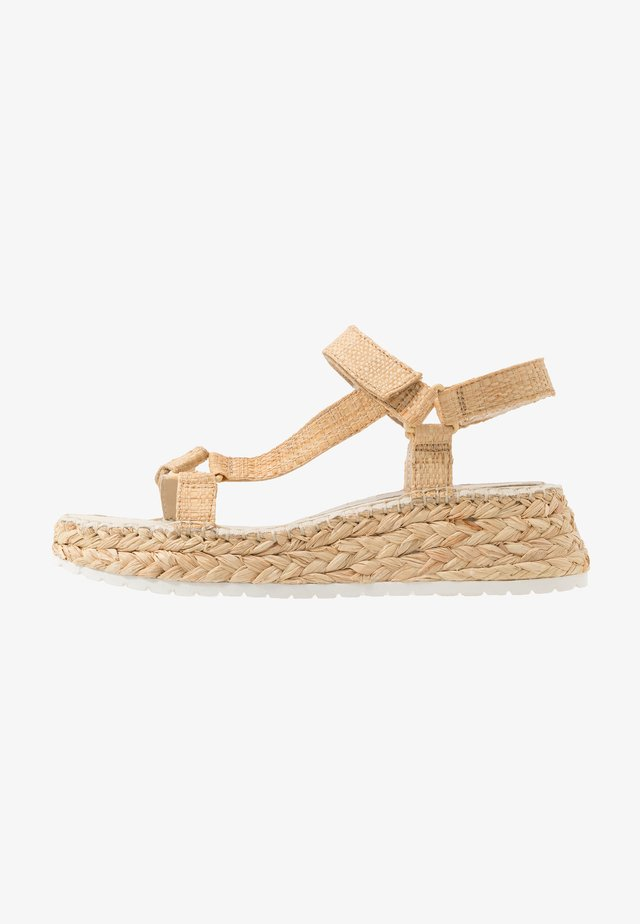 MANO - Espadrilles - light natural