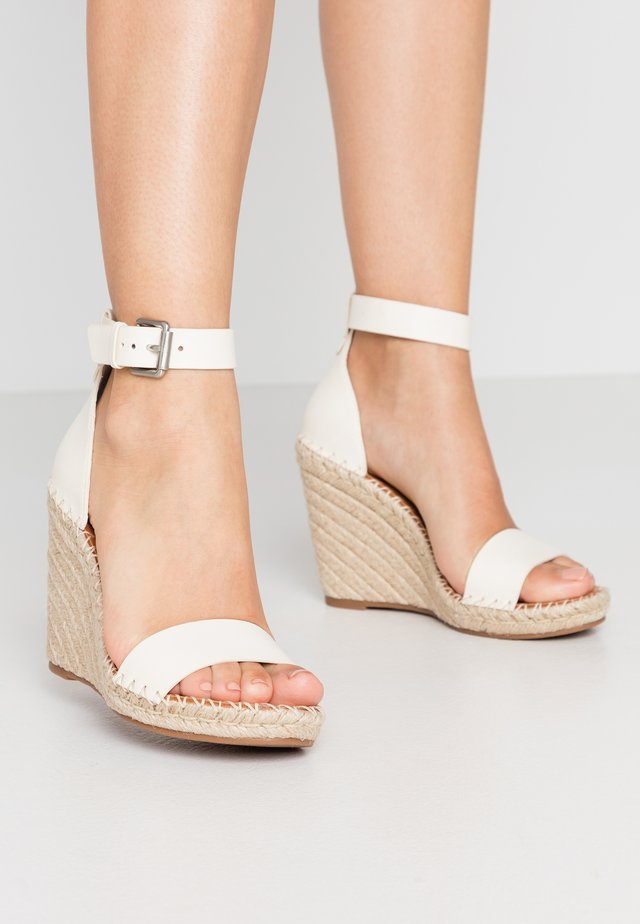 NOOR - High heeled sandals - white