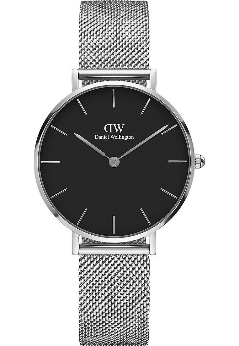 Daniel Wellington - PETITE STERLING 32MM - Uhr - silver-coloured/black
