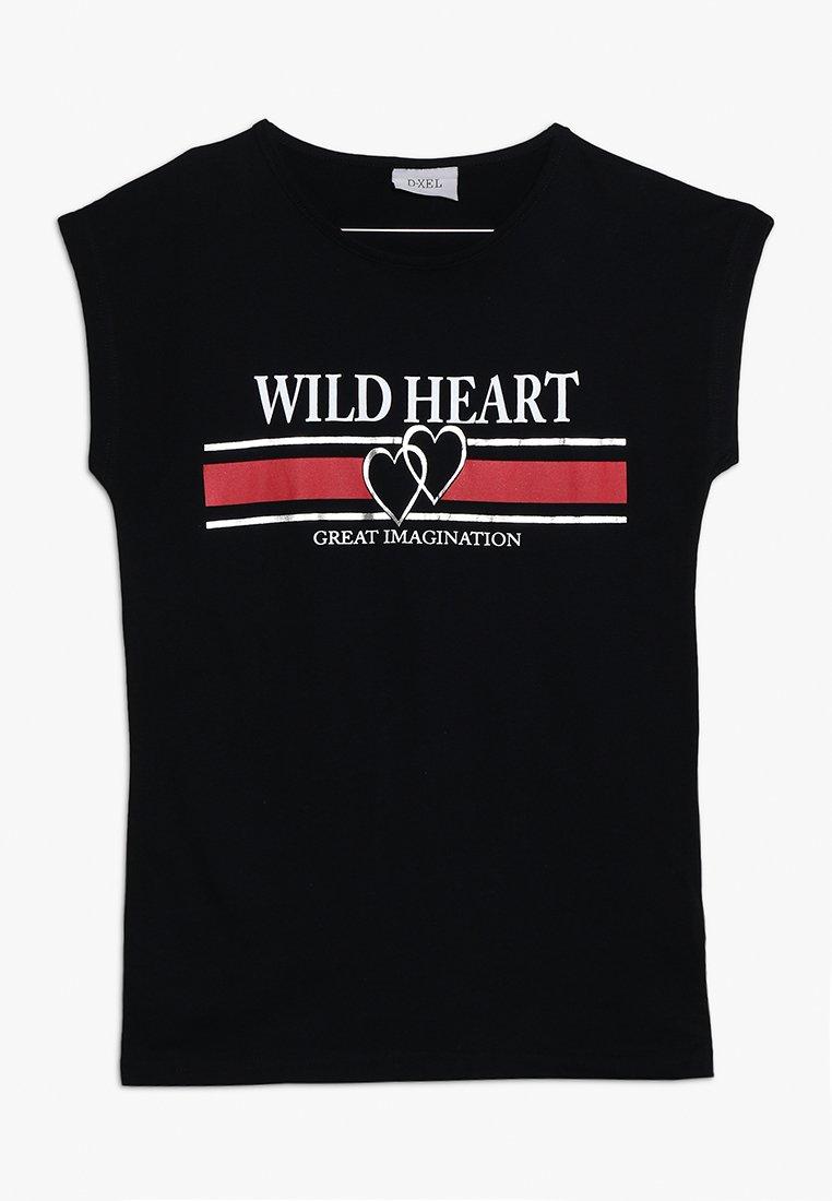 D-XEL - BELLUCCI  - Print T-shirt - black