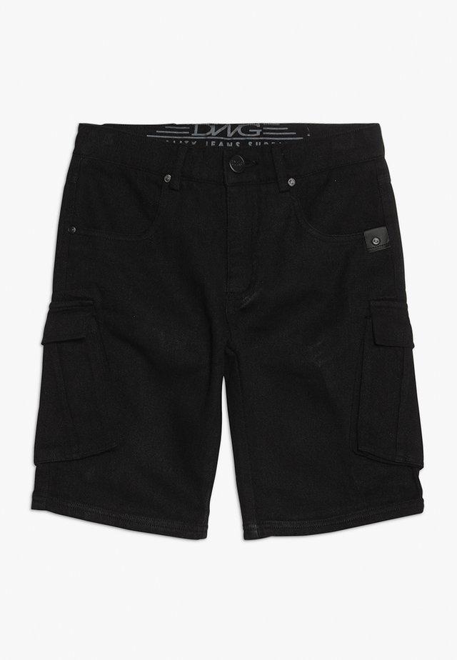 TREVOR - Szorty jeansowe - black