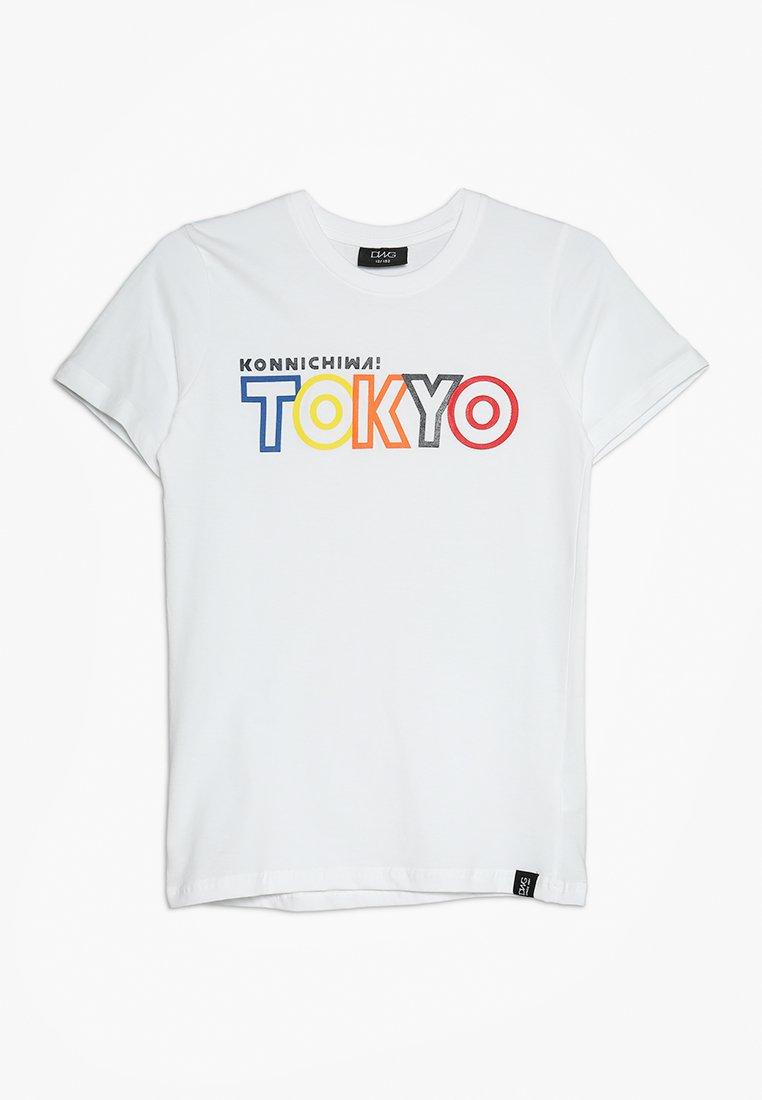 D-XEL - ALECK - Print T-shirt - white