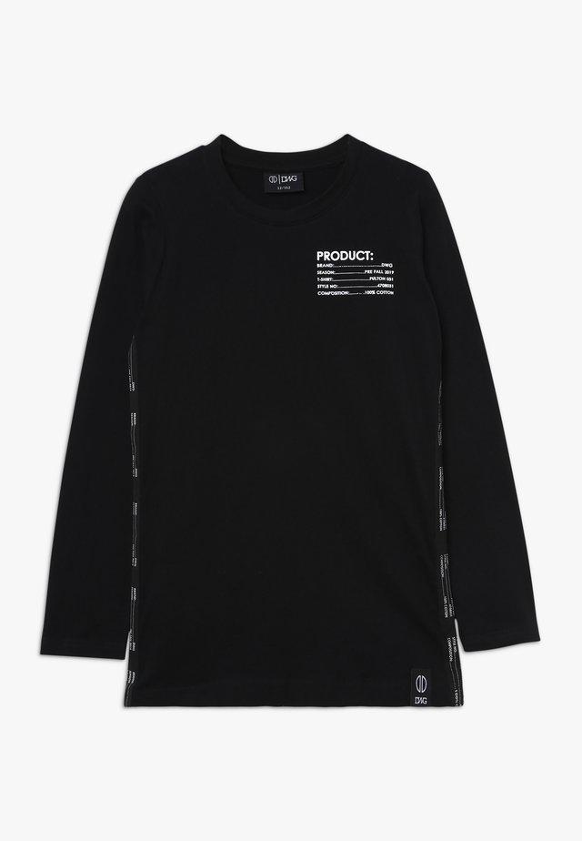 FULTON LONGSLEEVE - Bluzka z długim rękawem - black