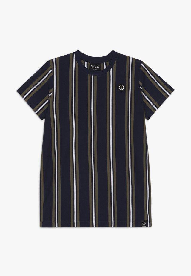ALONZO - Print T-shirt - navy