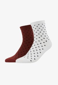 D-XEL - SOCKS 2 PACK - Ponožky - burnt henna/white - 1